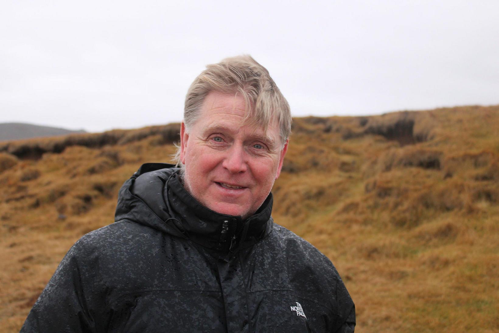 Óskar Sævarsson landvörður á vettvangi í dag.