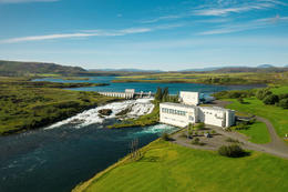 Ljósafoss hydroelectric power plant.