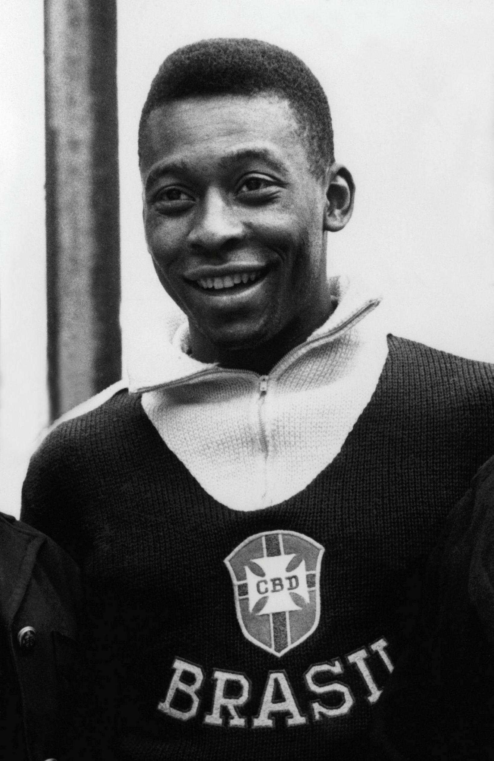 Pelé 21 árs gamall fyrir heimsmeistarakeppnina í Síle árið 1962 …