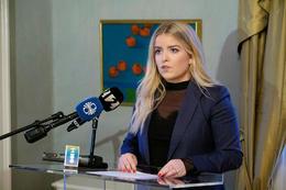 Áslaug Arna Sigurbjörnsdóttir,  dómsmálaráğherra.