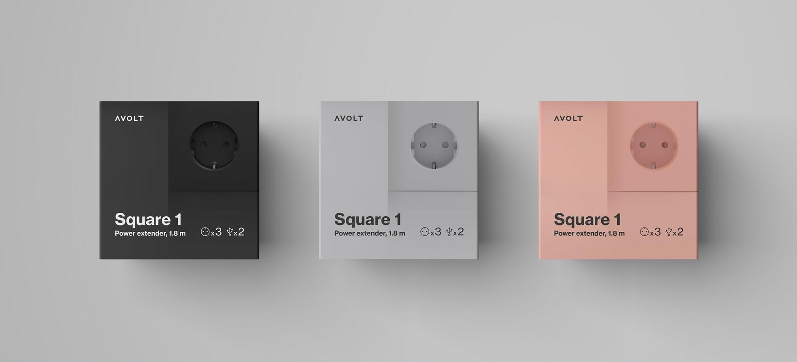 Square 1 eru fáanleg í svörtu, gráu og bleikum lit.