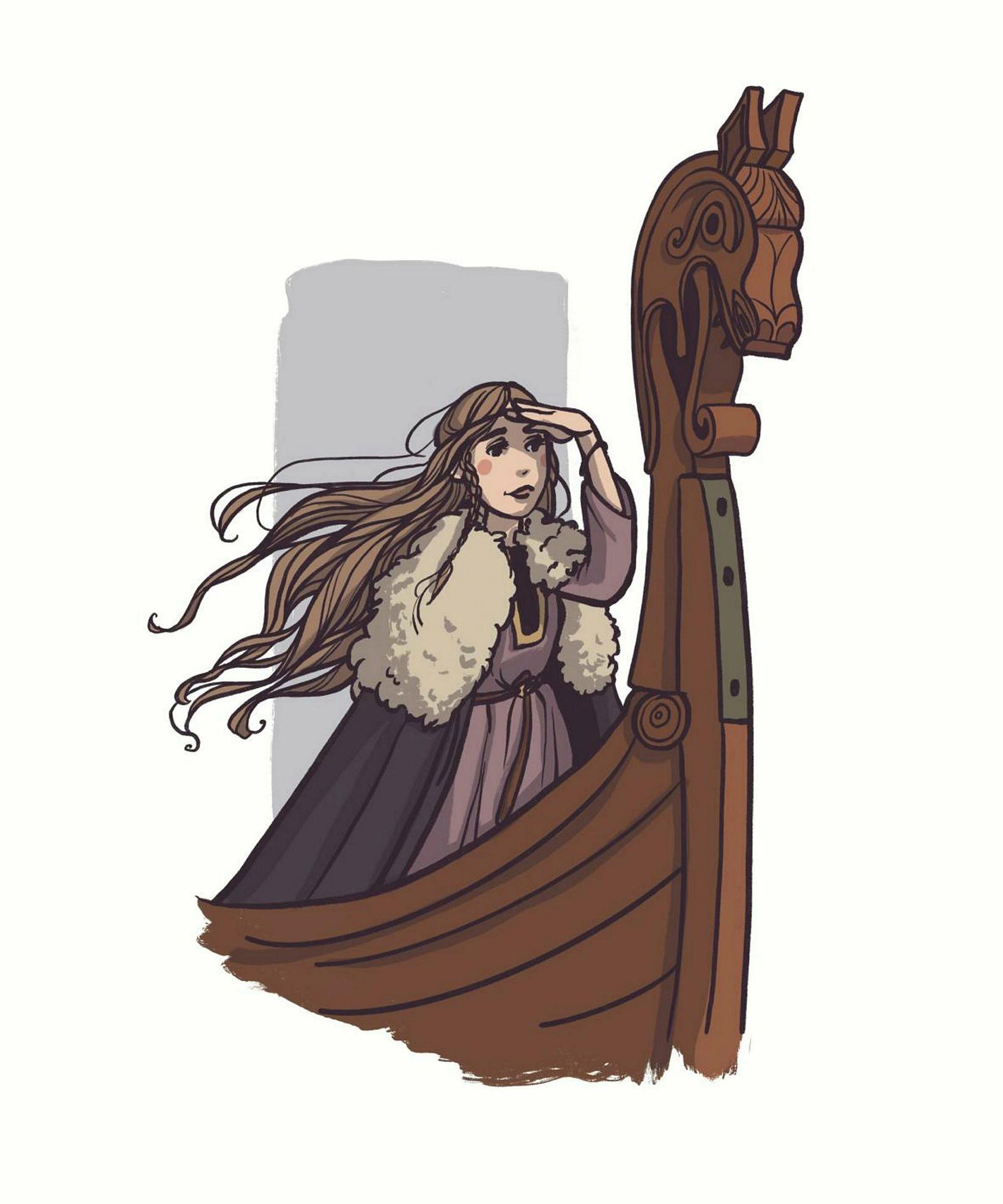 Guðríður Þorbjarnardóttir séð með augum Auðar Ýrar Elísabetardóttur myndhöfundar.