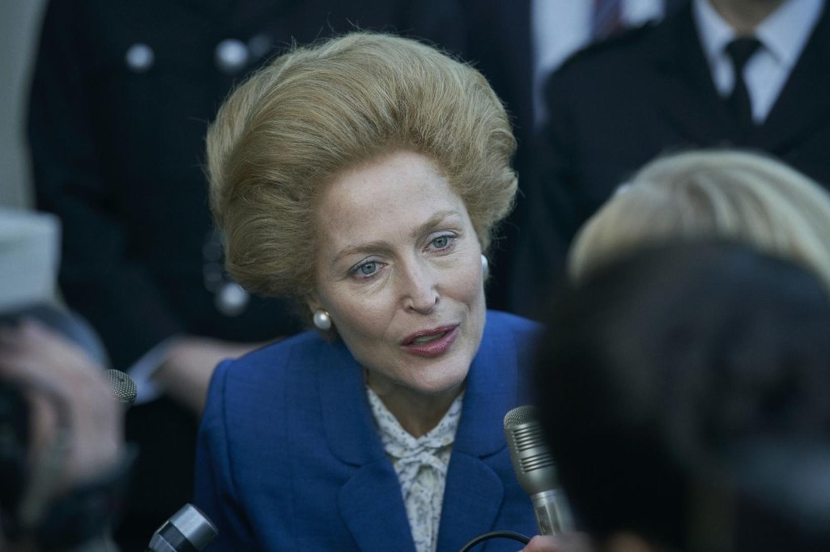 Gillian Anderson stúderaði Thatcher vel.