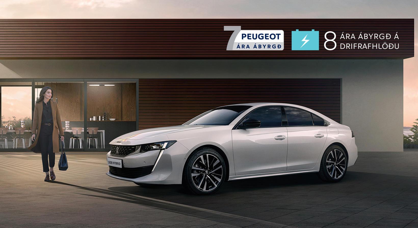 Peugeot hefur trú á bílum sínum með sjö ára ábyrgðinni …