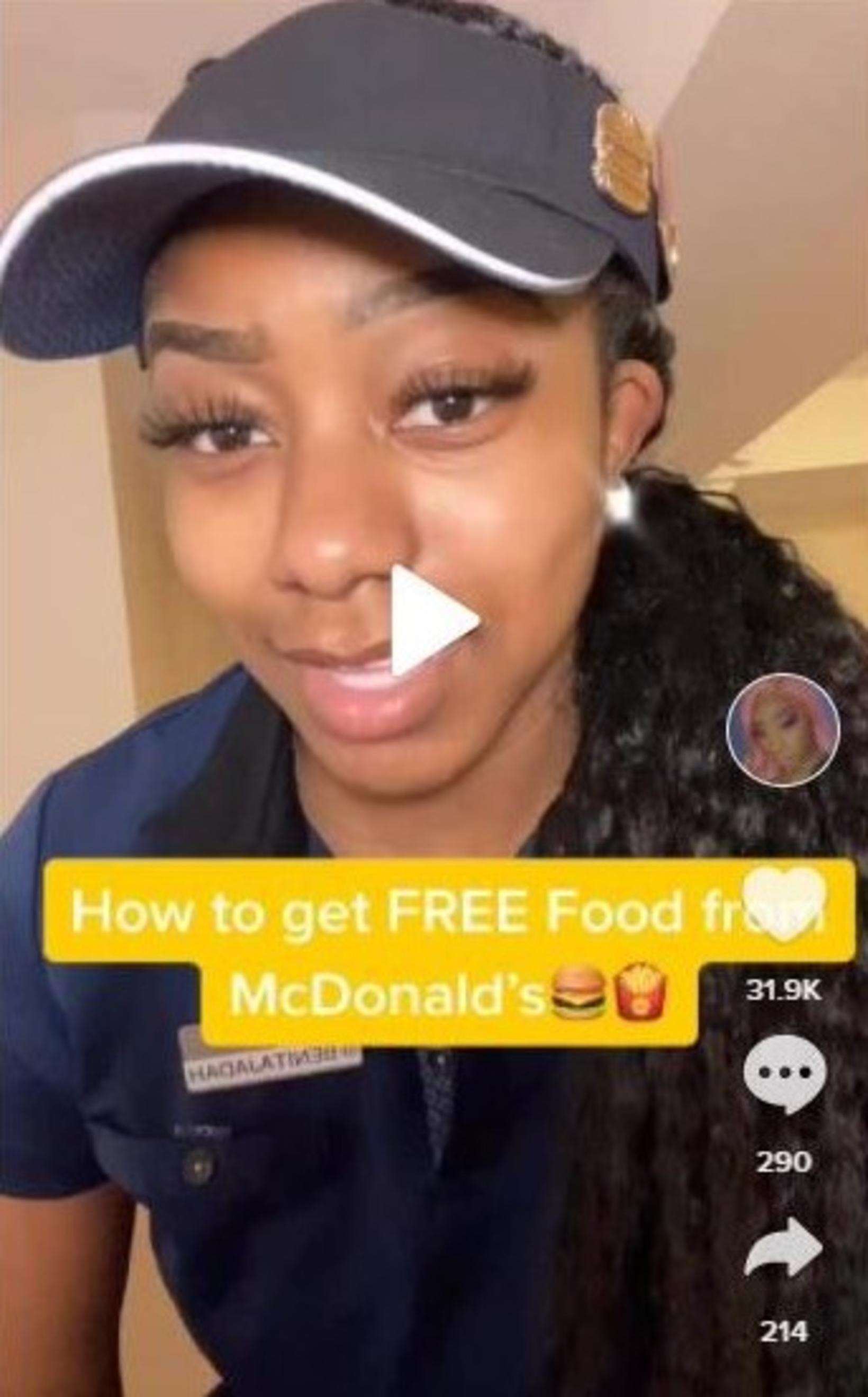 Benita Jadah er í hópi þeirra sem starfar fyrir McDonald's …