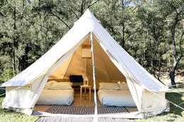 One type of a luxury tent.