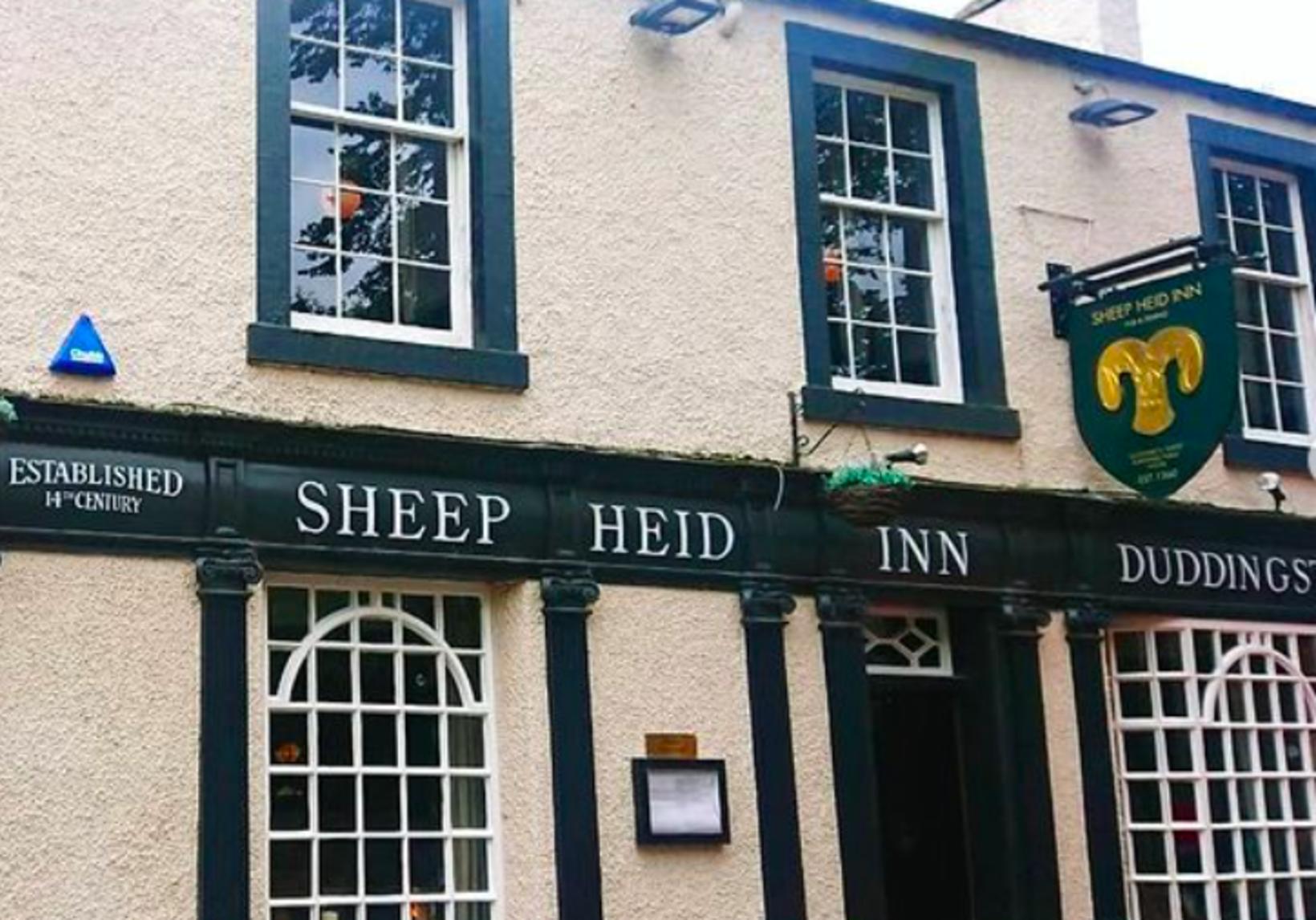 The Sheep Heid Inn í Skotlandi.