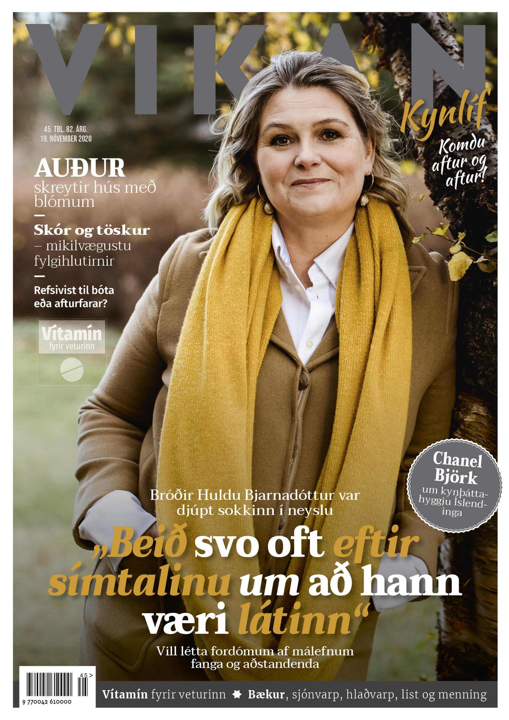 Hulda Bjarnadóttir prýðir forsíðu Vikunnar.