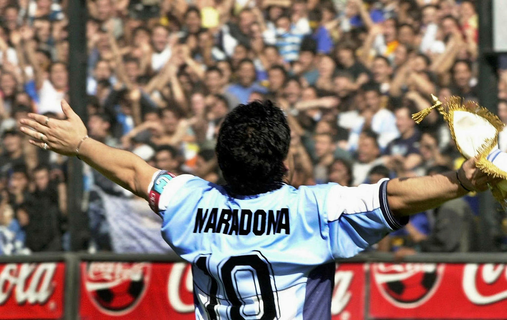 Það ríkir þjóðarsorg í Argentínu eftir fráfall Maradona.