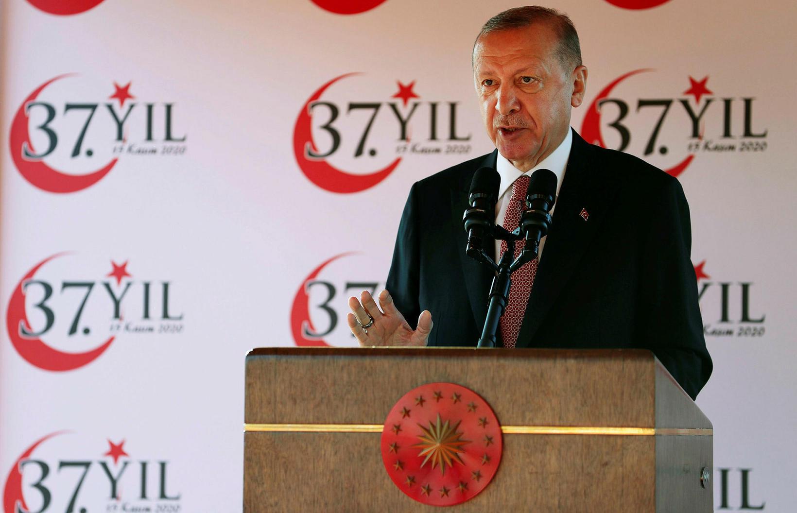 Erdogan, forseti Tyrklands.