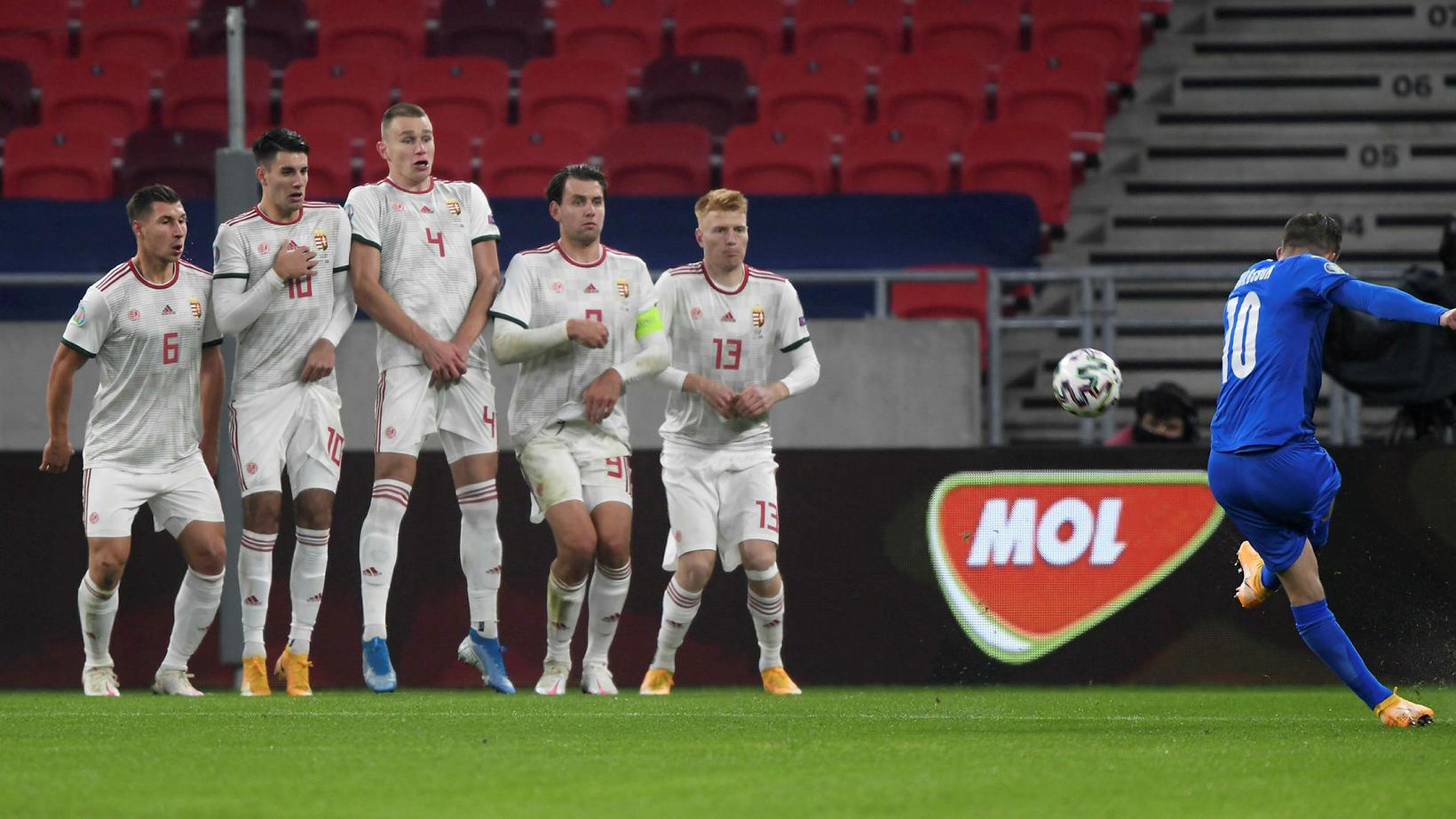 Gylfi Þór scores for Iceland.