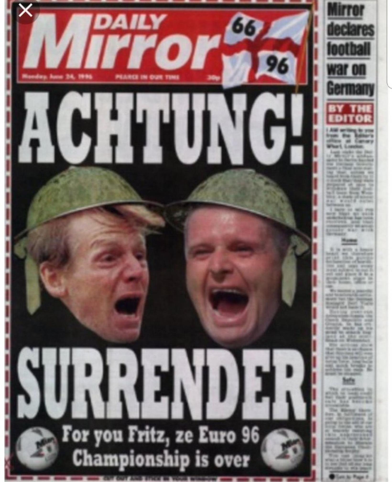 Grein í breska blaðinu Daily Mirror fyrir leik Englands og …