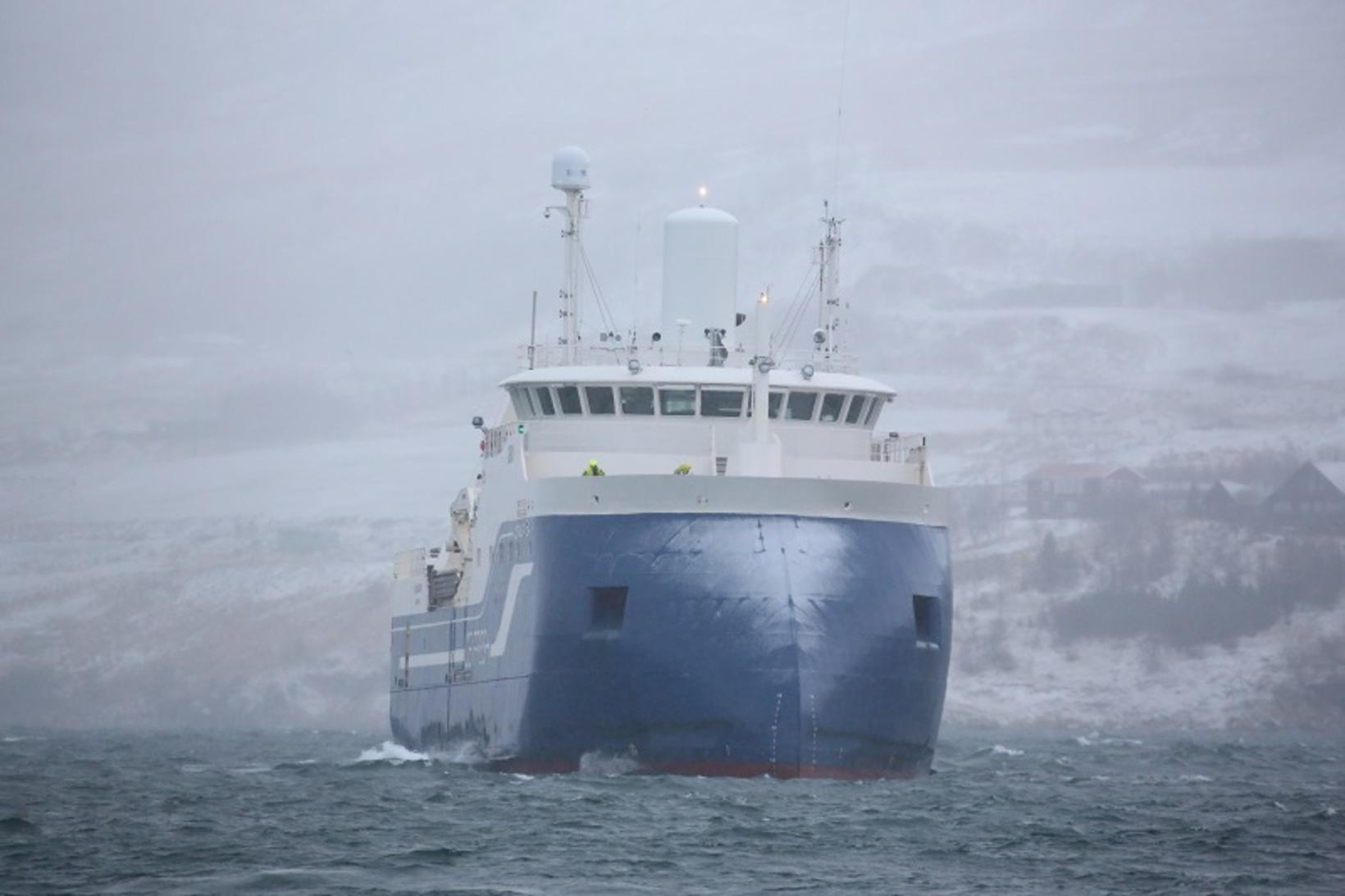 Kaldbakur kemur til hafnar á Akureyri á miðvikudag.