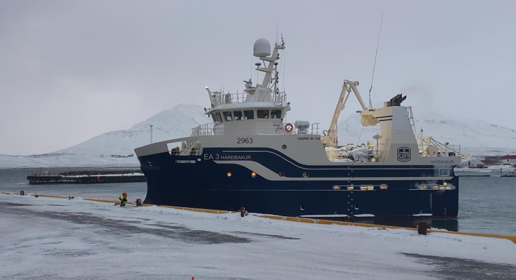 Harðbakur EA 3 heldu til veiða frá Dalvík.