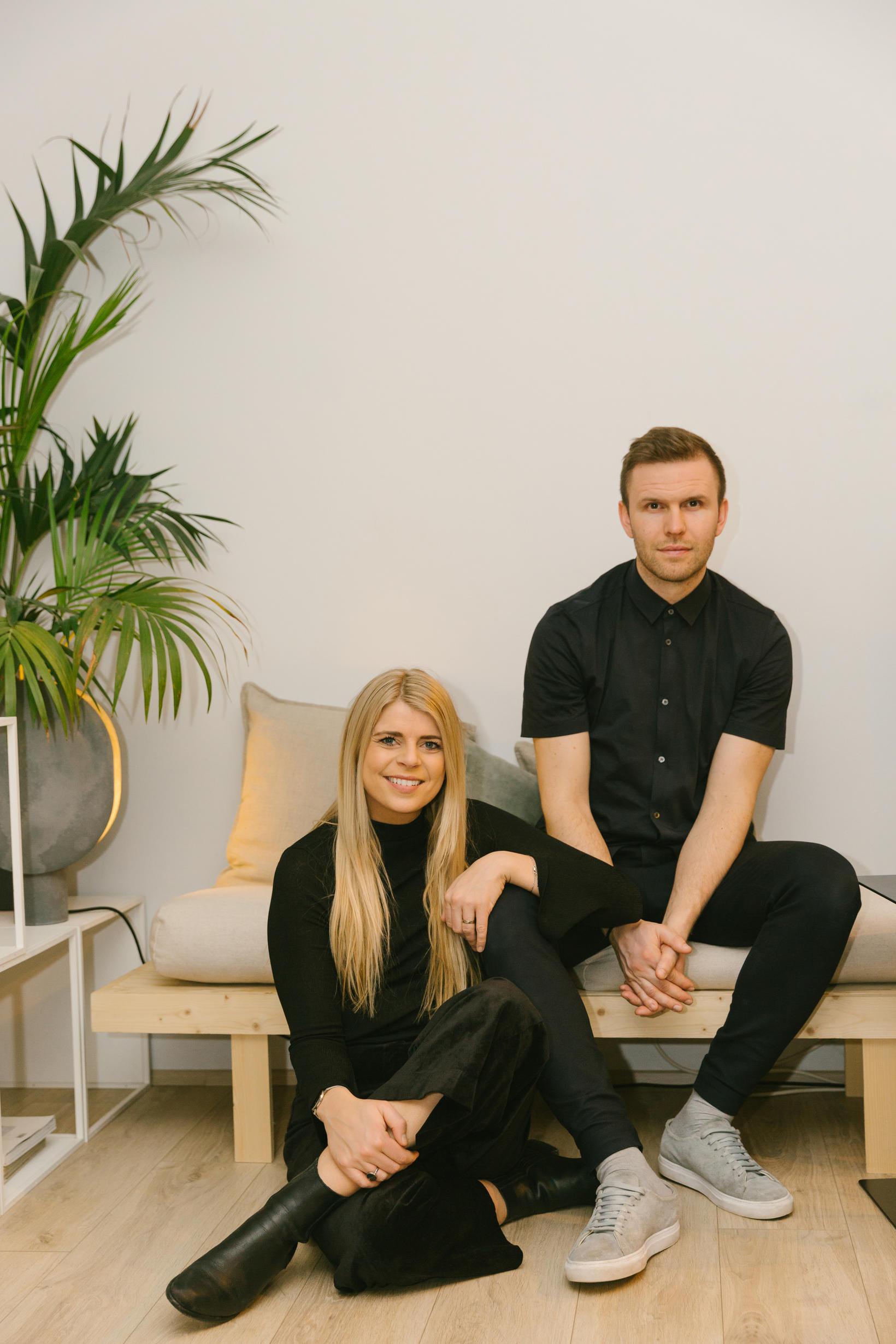 Hjónin, Rebekka og Ellert, standa á bak við hönnunarstúdíóið FORMER.