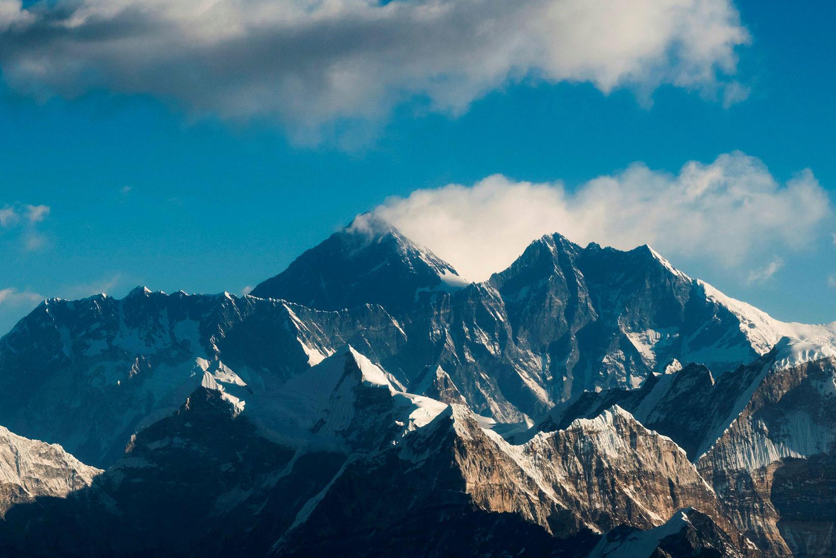Everest-fjall er hæsta fjall í heimi. Ríflega fjórum sinnum hærra …