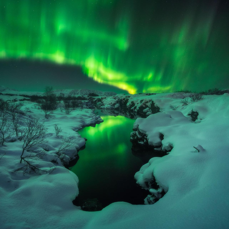 """Symphony of the Lights,"" taken by Iurie Belegurshi at Þingvellir, …"