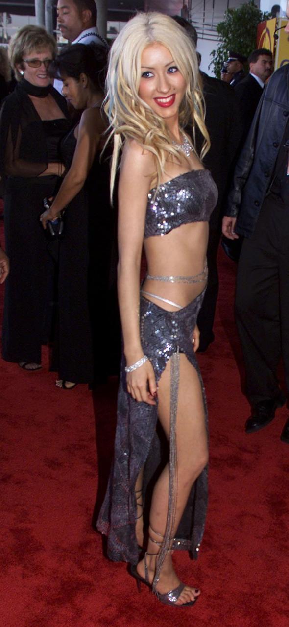 Christina Aguilera á Grammy-verlaunahátíð árið 2000. Söngkonan lenti á lista …