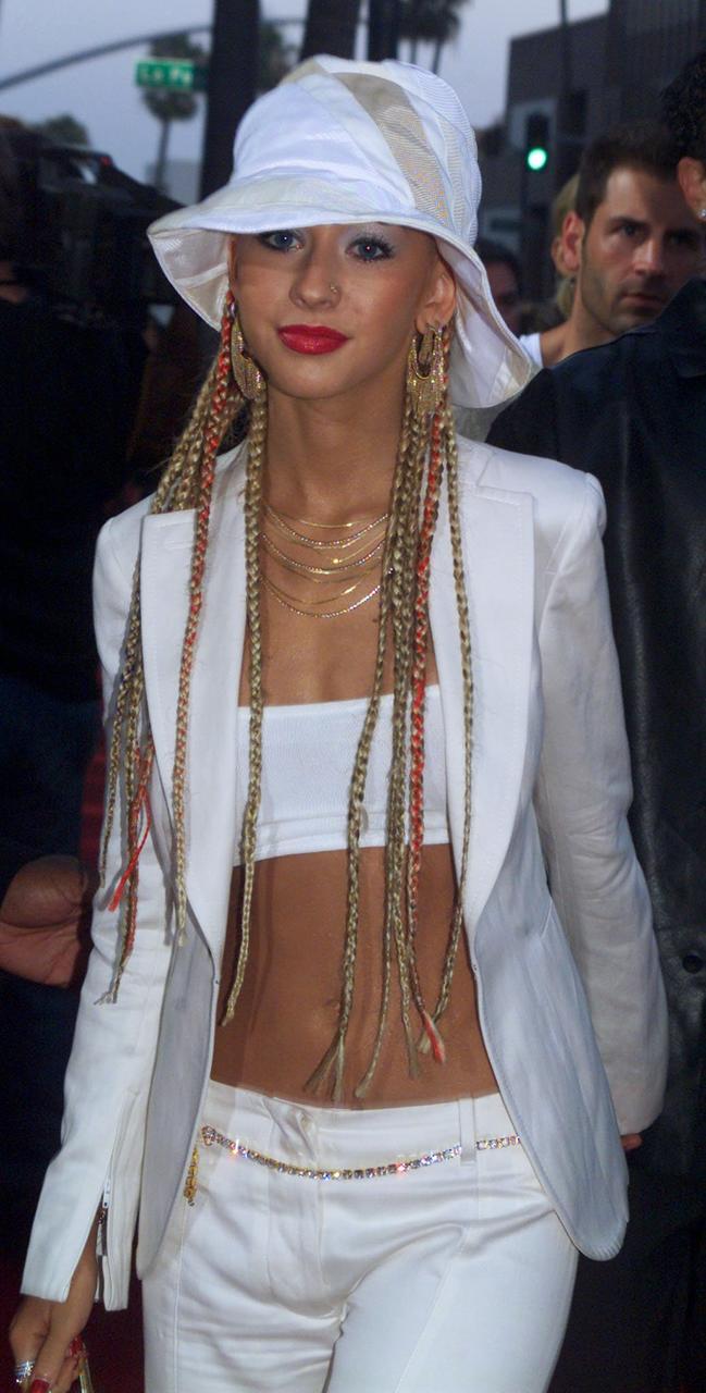 Christina Aguilera á frumsýningu Moulin Rouge í Beverly Hills árið …