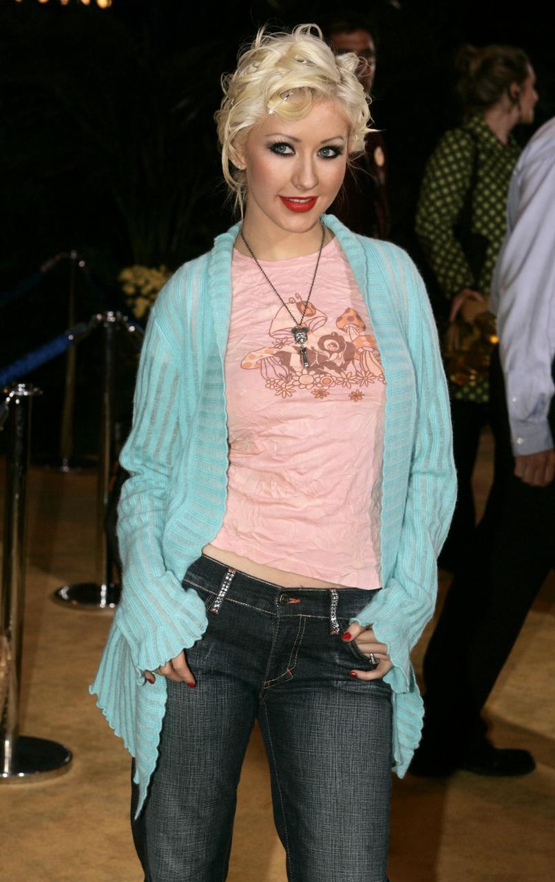 Christina Aguilera í afmælisfögnuði Disneylands í skemmtigarðinum árið 2005.