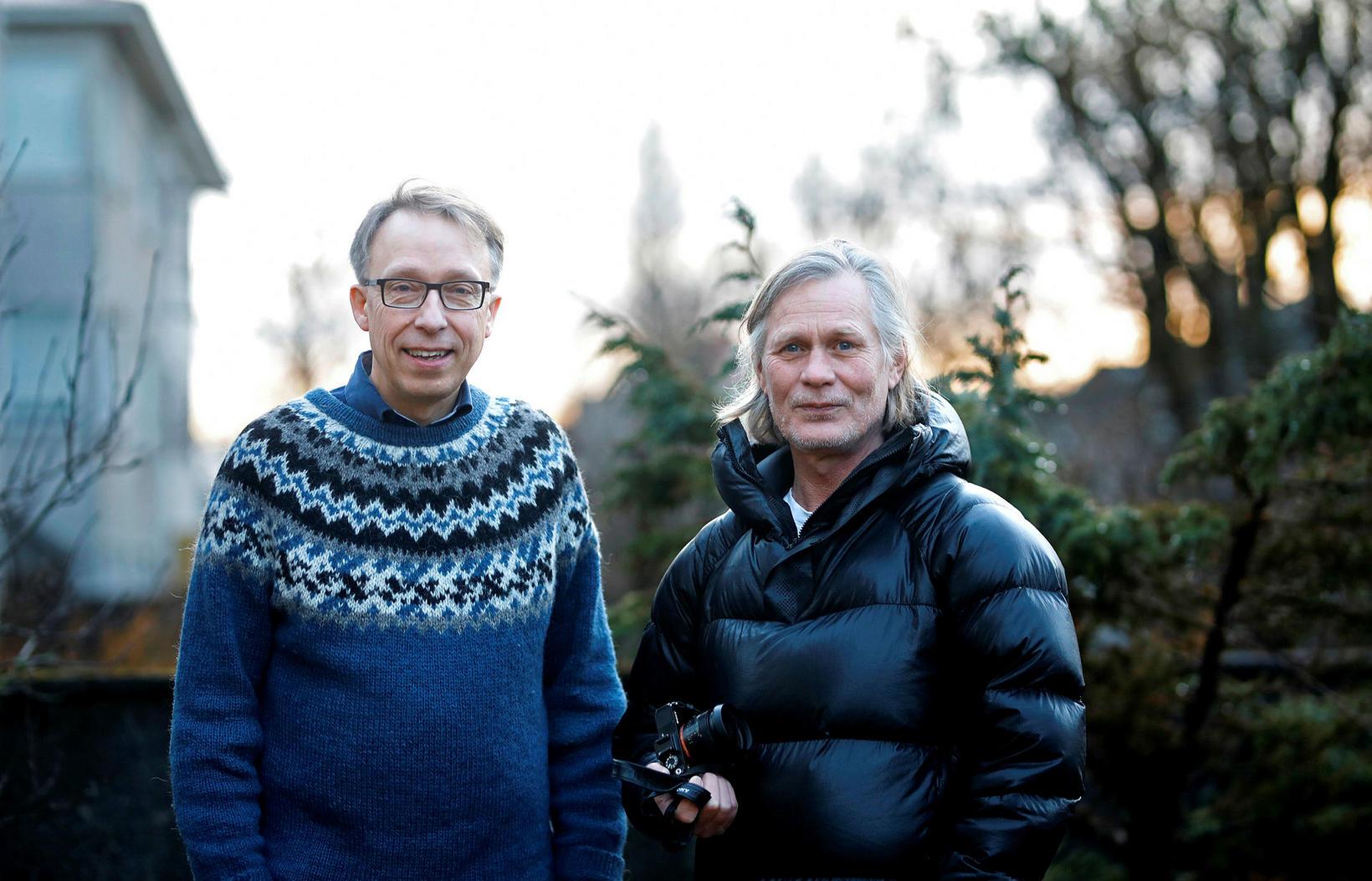 Höfundarnir Gunnsteinn Ólafsson og Páll Stefánsson.
