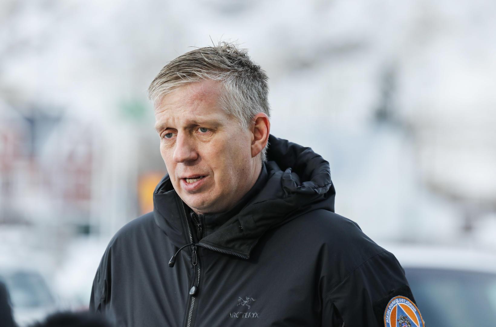 Chief Superintendent Víðir Reynisson.