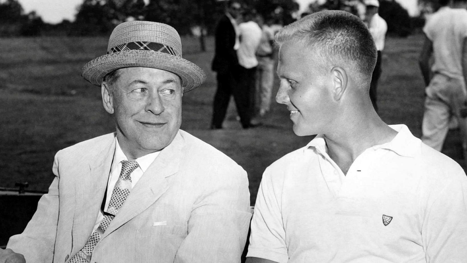 Bobby Jones og Jack Nicklaus árið 1957.