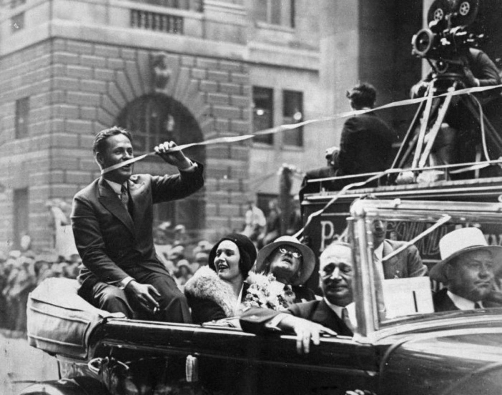 Bobby Jones á rúntinum í gegnum Manhattan sumarið 1930.