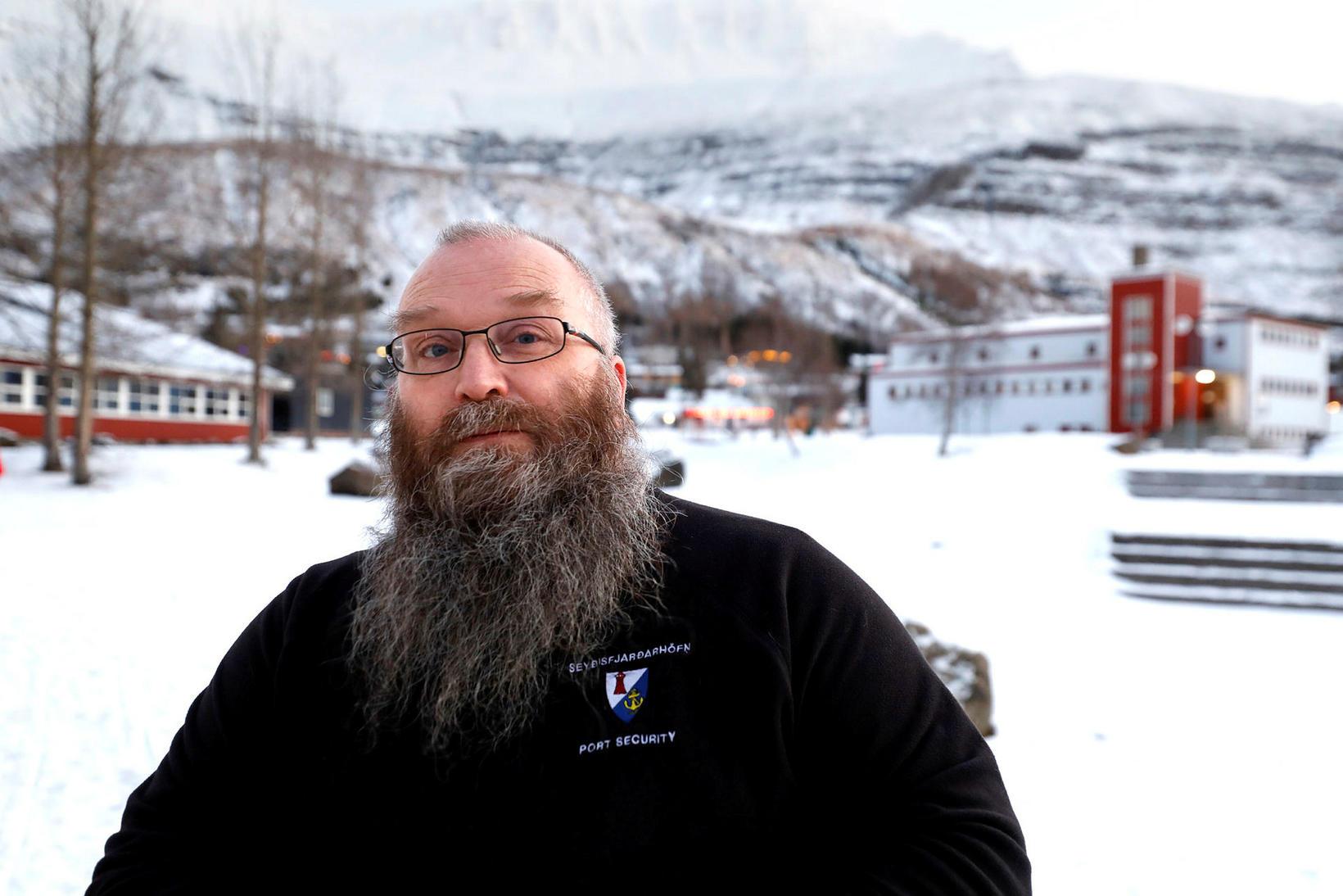 Rúnar Gunnarsson yfirhafnarvörður.