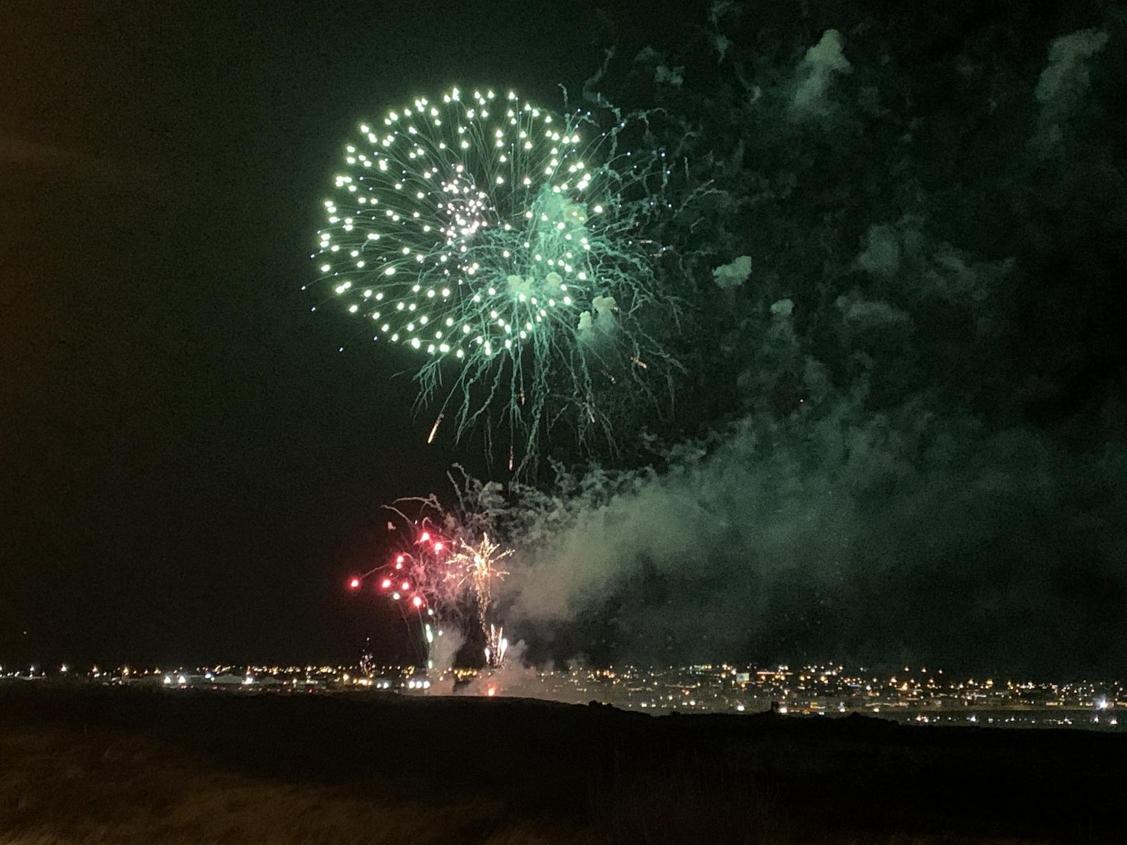 Fireworks in Reykjanesbær.