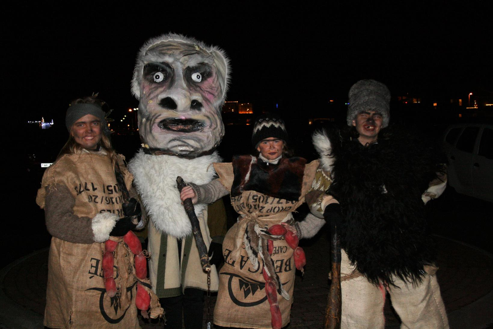 Some of the scary creatures seen in Reykjanesbær last night.