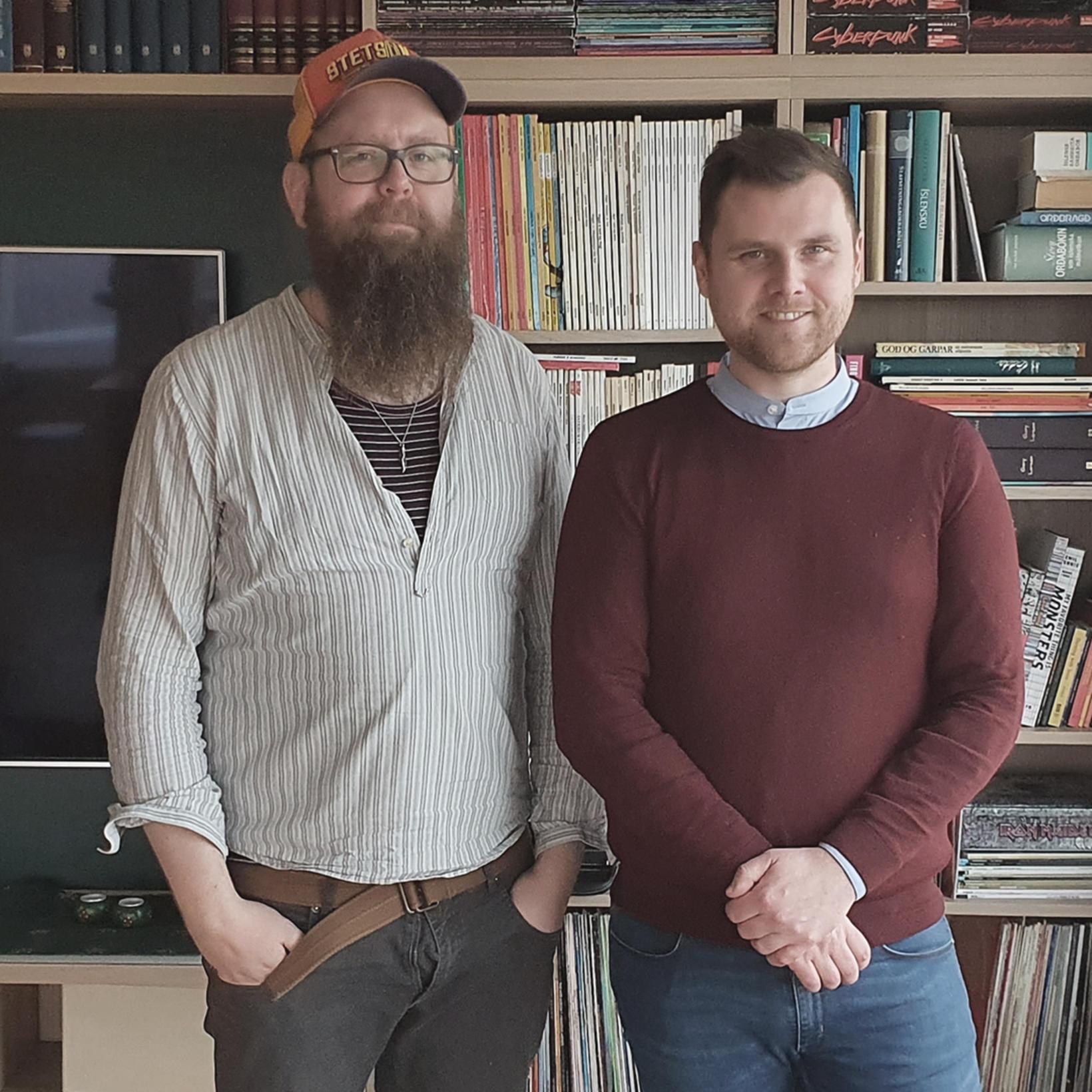 Snæbjörn Ragnarsson og Sævar Helgi Bragason.