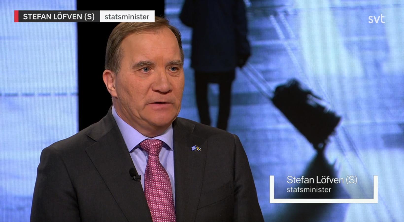 Stefan Löfven, í þættinum Agenda í sænska ríkisútvarpinu.