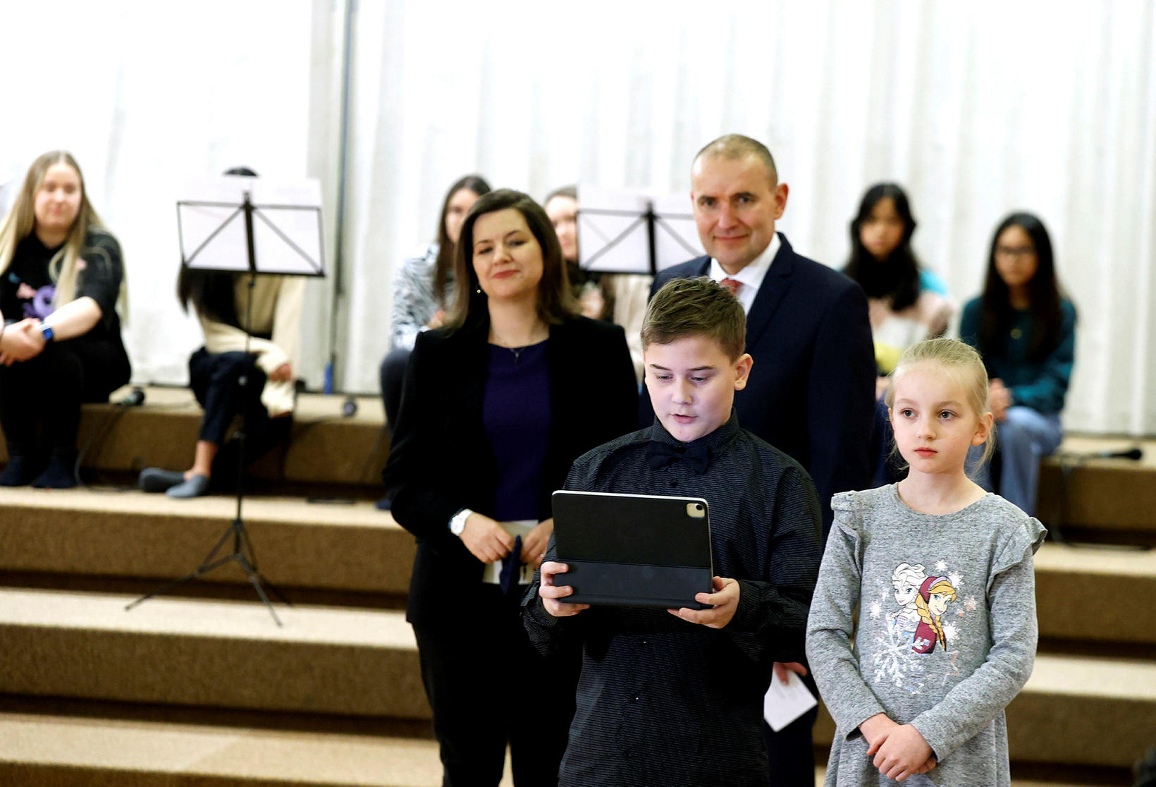 President Guðni Th. Jóhannesson and First Lady Eliza Reid attended …