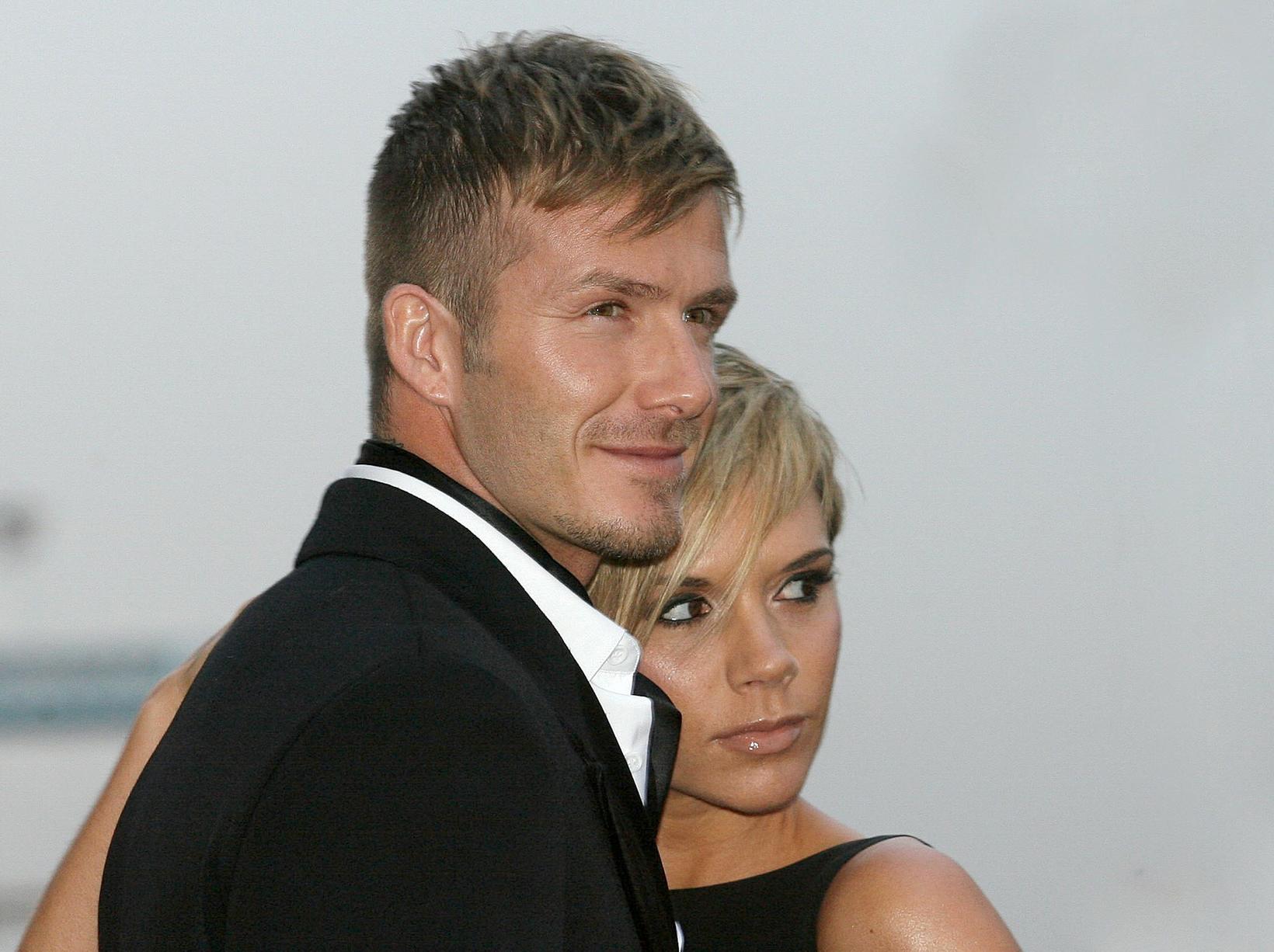 David Beckham og Victoria Beckham árið 2007.