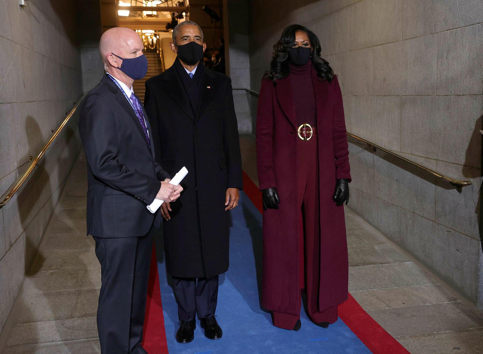 Michelle Obama ásamt eiginmanni sínum, fyrrverandi forsetanum Barack Obama.
