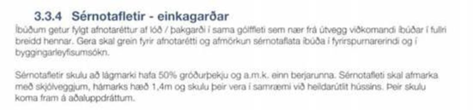 Samkvæmt skilmálum fyrir mannvirki og byggingar á svæði tvö í …