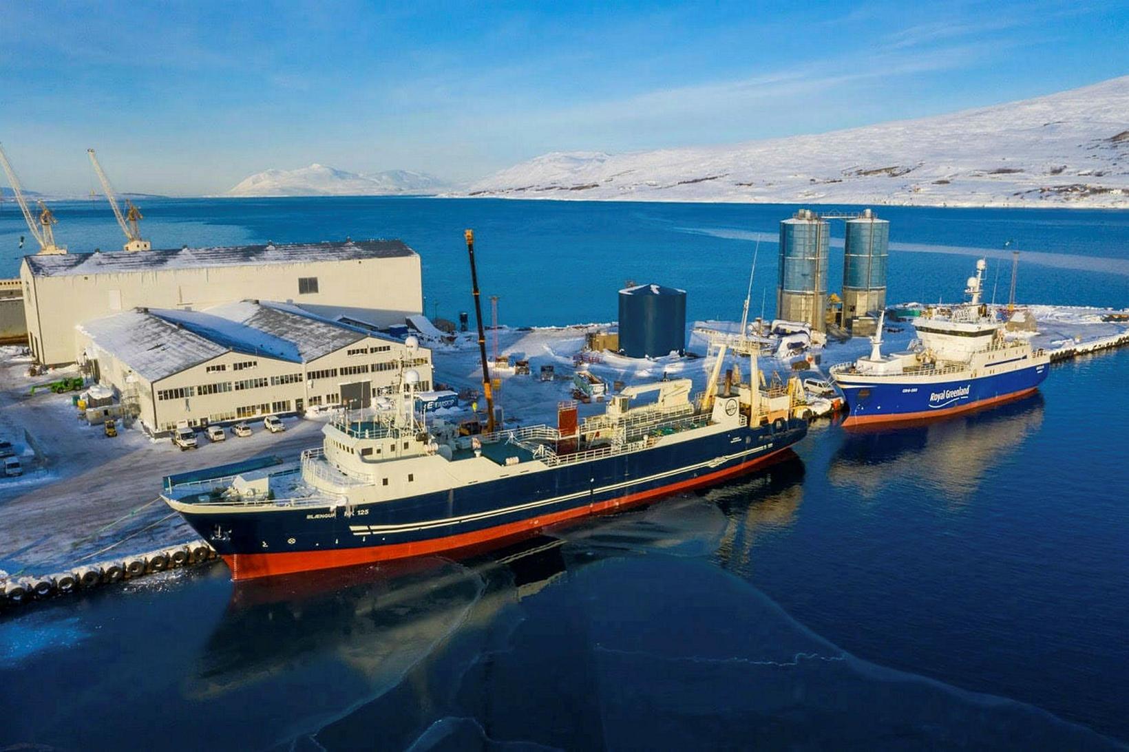 Blængur við Slippinn á Akureyri.