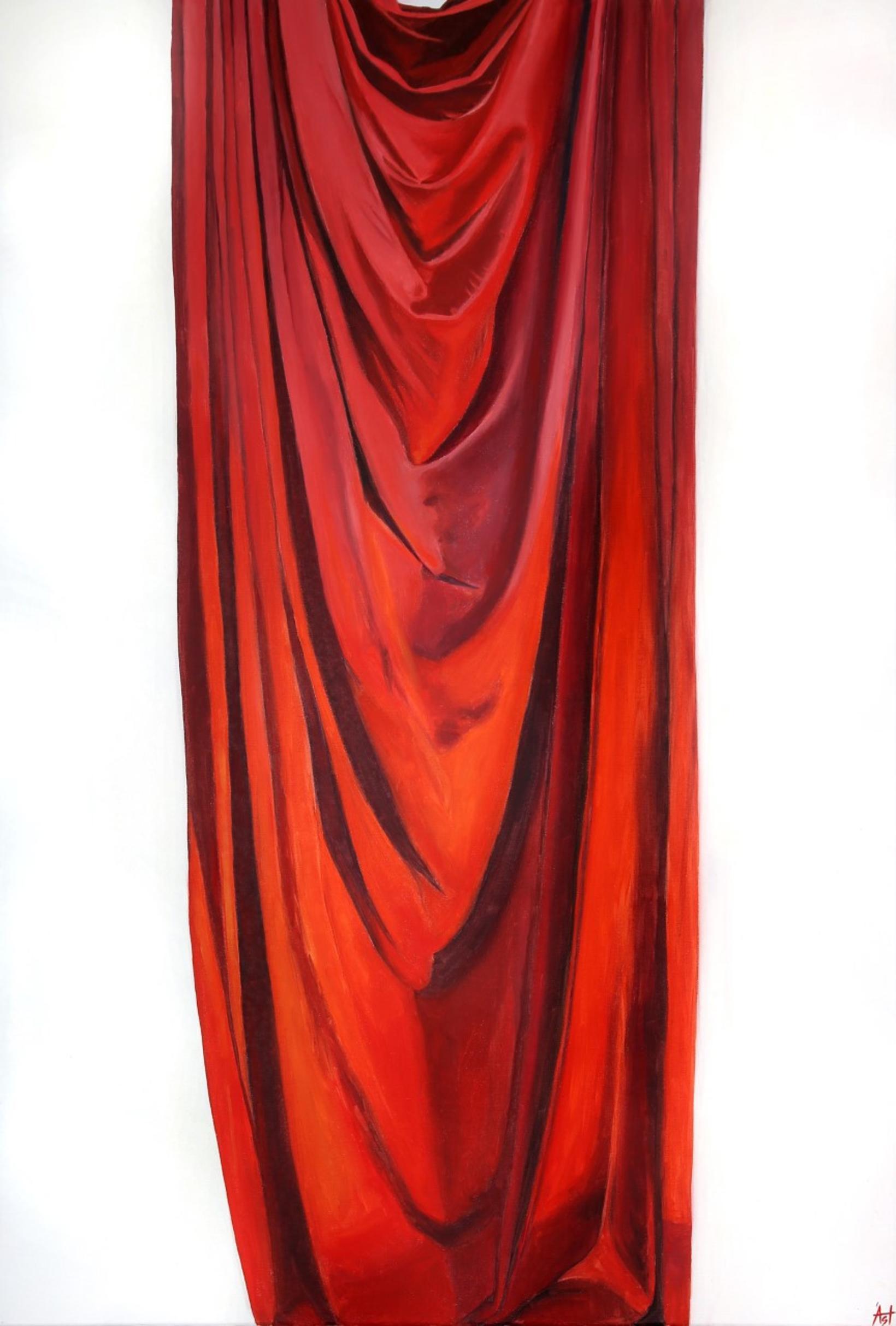 Rautt silki eftir Ástríði Jósefínu.