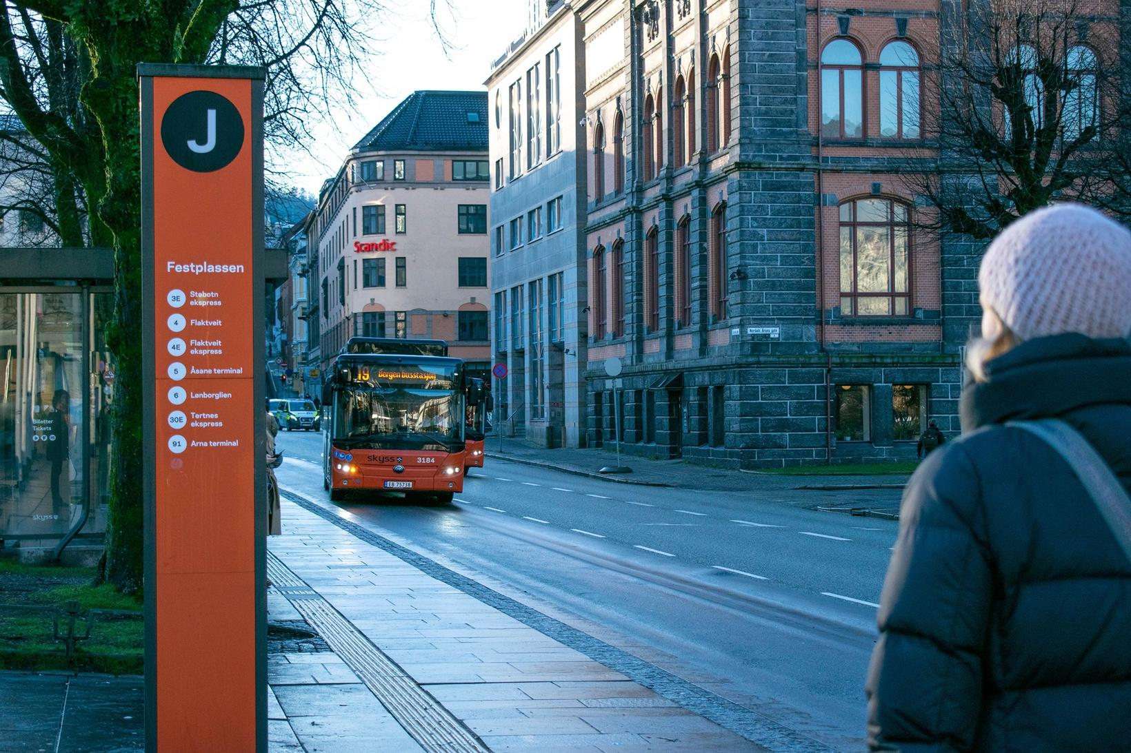 Yutong Eurobus í umferðinni í Ósló.