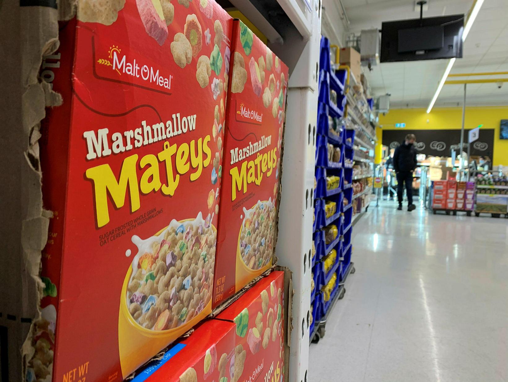 Kílóverðið á Marshmallow Mateys í Bónus er 1.121 króna en …