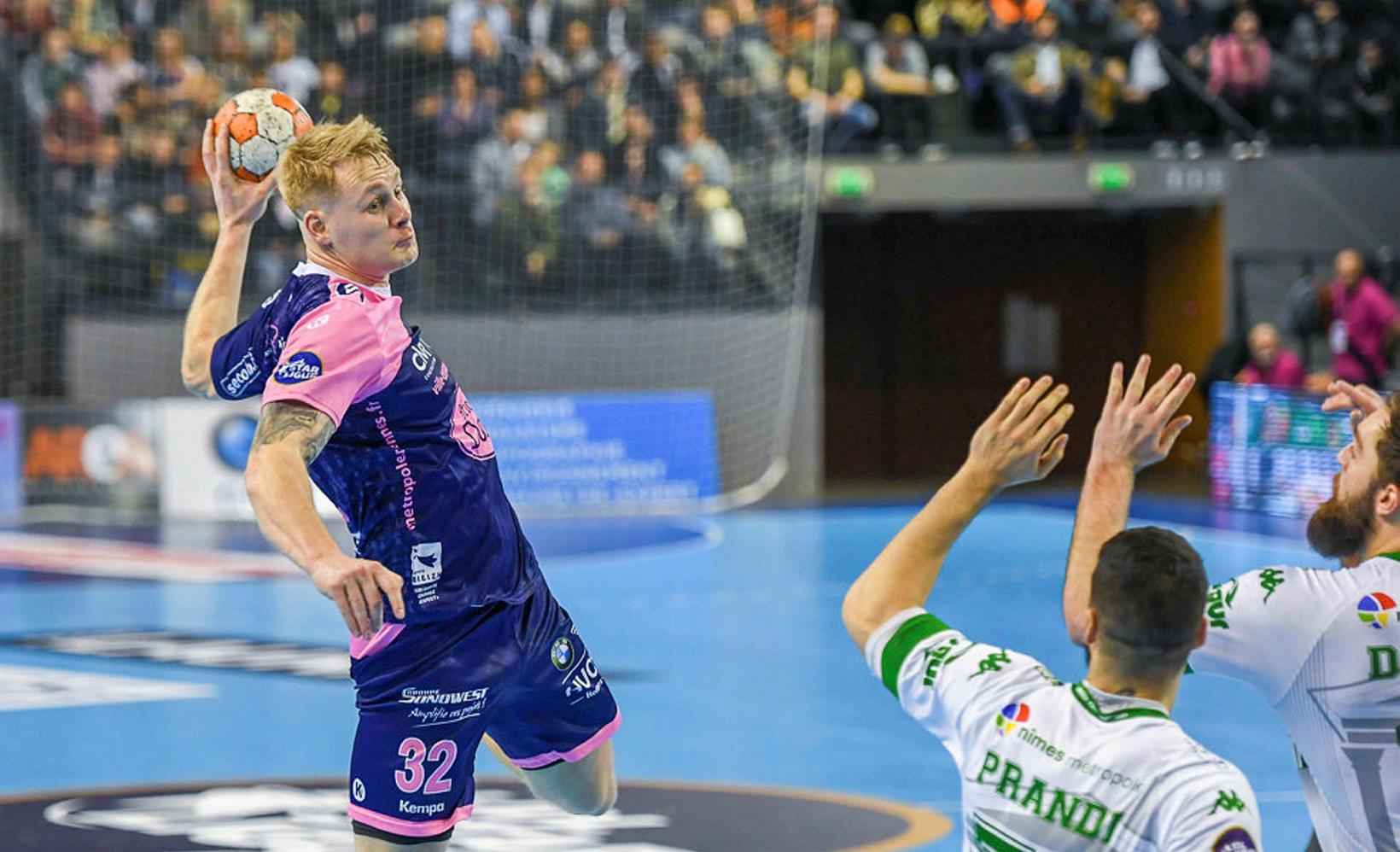 Geir Guðmundsson í leik með Cesson-Rennes í Frakklandi en hann …