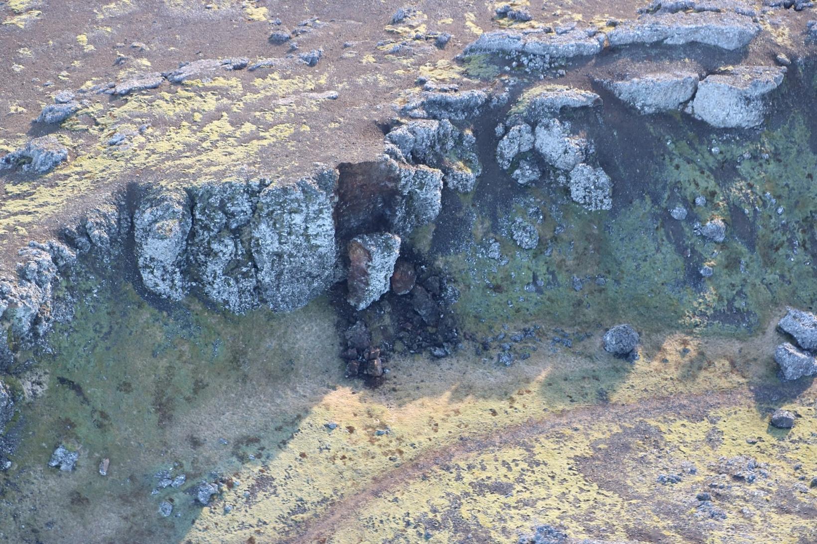 Fallen rocks in the Reykjanes peninsula.
