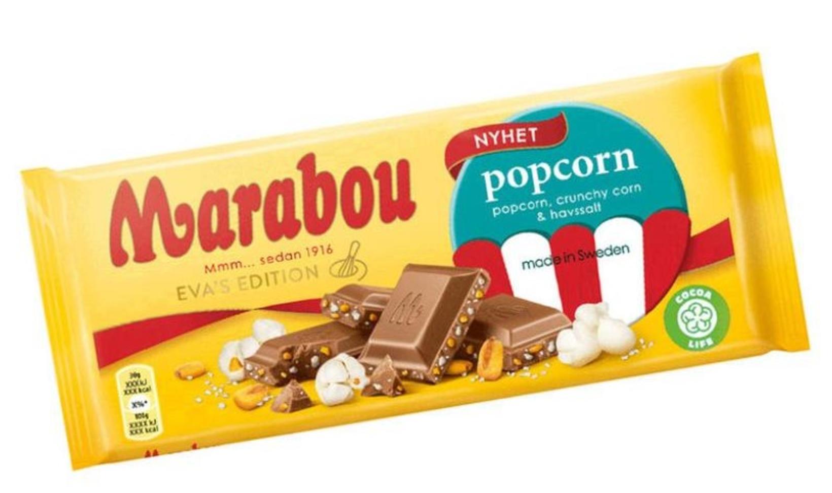 Mjólkursúkkulaði með poppkorni, stökkum maís og sjávarsalti – hljómar alls …
