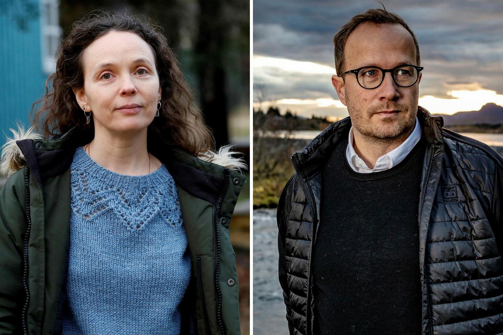 Guðrún Eva Mínervudóttir og Andri Snær Magnason eru tilnefnd fyrir …