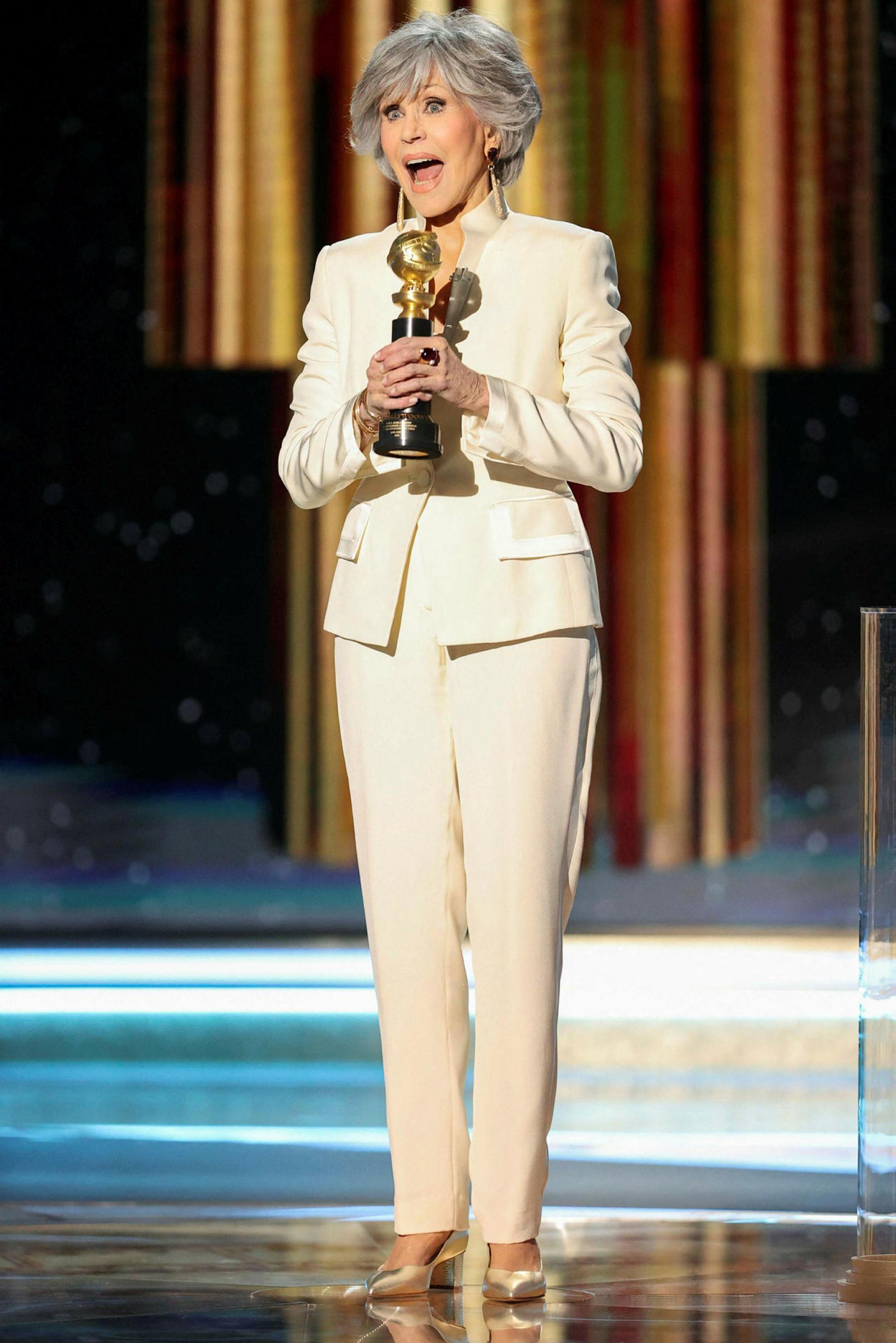 Jane Fonda endurnýtti gamla buxnadragt en leikkonan er hætt að …