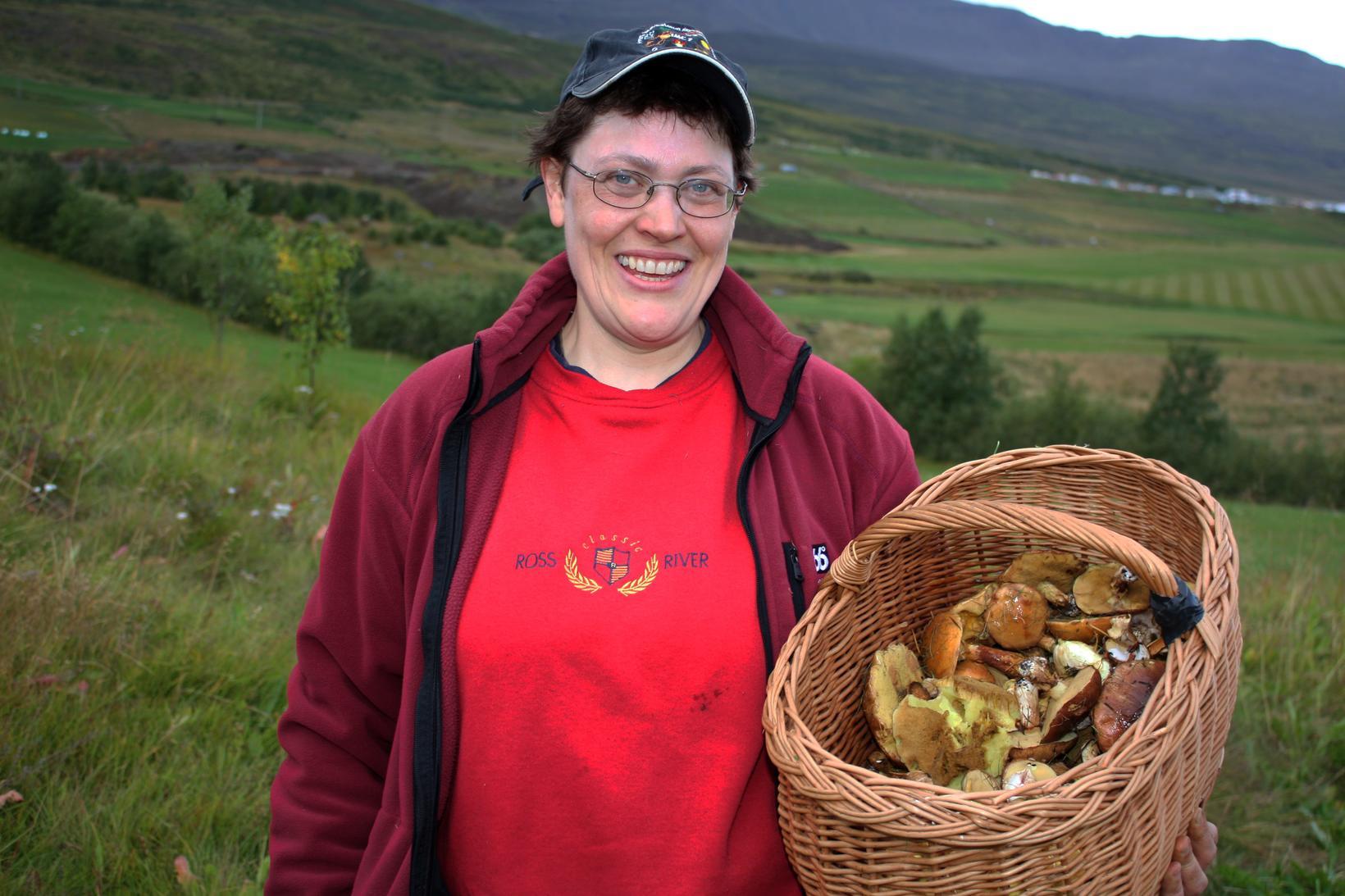 Guðríður Gyðja Eyjólfsdóttir sveppafræðingur.