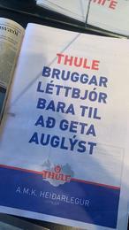 Auglýsingin birtist meðal annars í Fréttablaðinu í vikunni. Neðst í fréttinni má sjá auglýsinguna í heild.