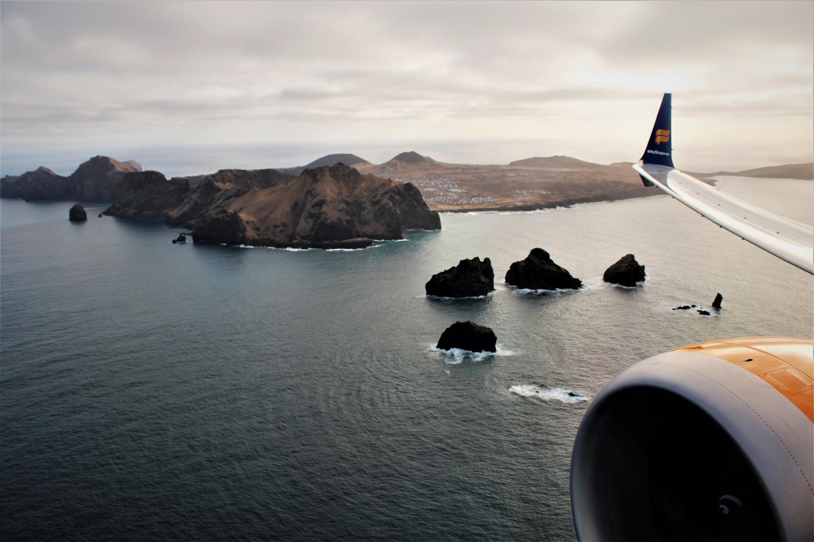 A view of Vestmannaeyjar islands.
