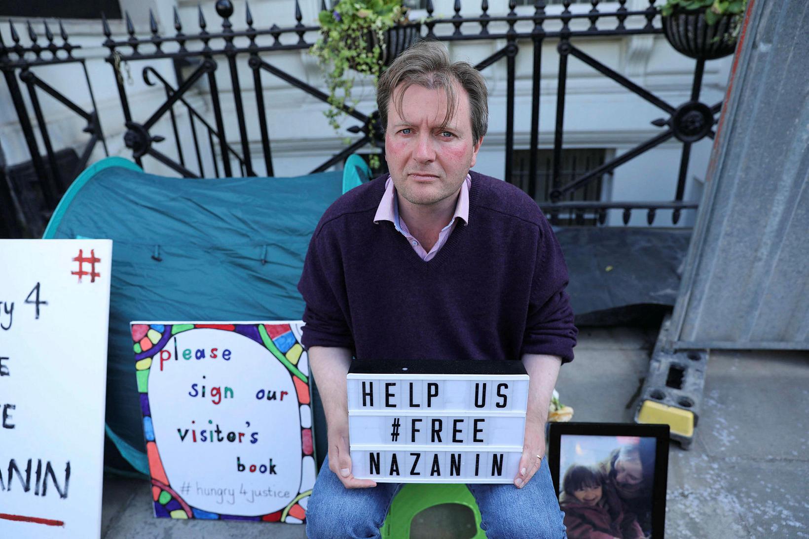 Richard Ratcliffe, eiginmaður Nazanin, fór í hungurverkfalli árið 2019 fyrir …